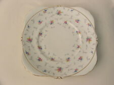 Royal Grafton Bone China Dinner ~ Cake Plate ~ A.B. Jones ~ Cute Pattern '6416'