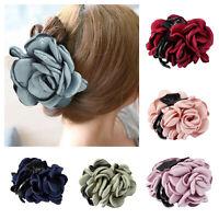 Haarklammer Haarclip Haargreifer Haarschmuck Blüten Rose Krabbe Klammer