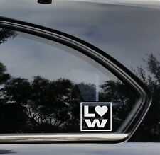 LOWLIFE LOVE JDM Drift DUB LOW LIFE 4X4 Lowered Funny Car Decal Sticker VW EURO