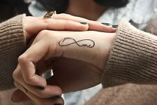 Temporary Tattoo Black Infinity You & Me  TT424 Wrist or Ankle Tattoos
