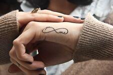 Tatuaje Temporal Negro Infinity You & Me tt424 Muñeca O Tobillo Tatuajes