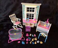 Barbie Nap N Play Nursery Set, Near Complete