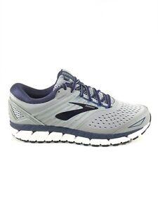 Brooks Beast 18 Mens Running Shoes Size 12 D Medium Width Grey Blue Cushion NEW