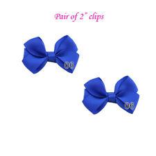Royal Blue hair clips bows clips  Bow Hair Clips Baby Girl school bow clips
