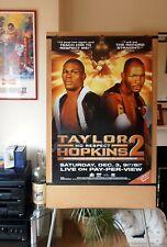 BERNARD HOPKINS vs. JERMAIN TAYLOR (2) : Original Full-Size HBO Boxing Poster