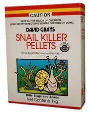 Snail Slug Killer Pellets 1Kg David Grays Garden Bed Vegetable Flower Protection