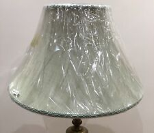 Brand New Large Table Lampshade Bell Shape Colour Sage Green With GreenBraiding