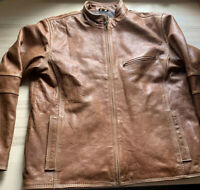 Vintage Bachrach Women's Cigar Brown Soft Leather Jacket Size Large