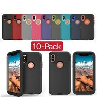 10-Pack For Apple iPhone X XR XS Max Shockproof Rugged Armor Phone Case Cover