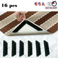 16PCS Non Slip Reusable Carpet Mat Grippers Home Floor Anti Curling Grip Mat Pad