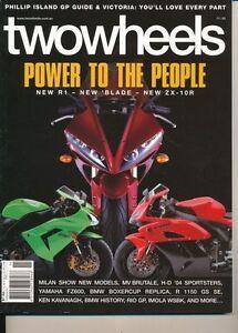 Two Wheels Magazine Nov 2003  H-D Sportster  Yamaha FZ6 BMW R 1100S 80 Years BMW