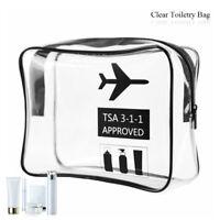 Clair maquillage sac cube PVC femme sac de toilette de voyage de stockage
