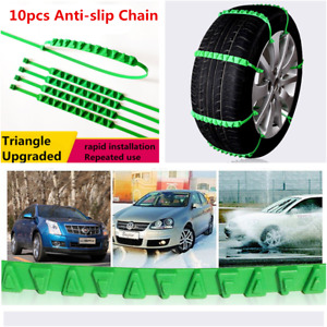 10pcs Reusable Nylon Car Tire Snow Anti-slip Chain Emergency Zip Tie Belt Kits