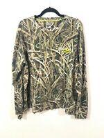NWT Mens XL Camo Button Neck Long Sleeve Thermal Mossy Oak Blades Shirt