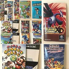 Nintendo GameCube Instruction Booklets Game Manuals Only CHOICE of GC Inserts