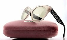 NEW Authentic MIU MIU  Opal Argil Cateye Stardust Sunglasses 0MU 07RS UE2-5J2