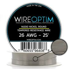 26 AWG Tempered Ni200 Nickel Wire - (0.40mm) 25'