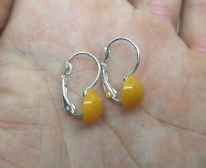 Amber earrings / Baltic amber / Old amber / Drop earrings / Stone earrings