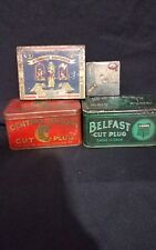 Stephano brothers,Piper heidsieck,Central union,Belfast Tobacco tin lot