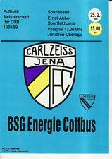 OL 88/89 FC Carl Zeiss Jena-BSG portavoce Cottbus, RS-C