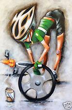 Tour de france pro cycling bike art australia by andy baker 60cm canvas Abstract