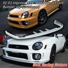 Pro-D Style Front Bumper Lip (Urethane) Fits 02-03 Subaru Impreza WRX Sedan
