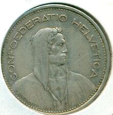 1932-B SWITZERLAND 5 FRANCS, NICE VERY FINE, GREAT PRICE!