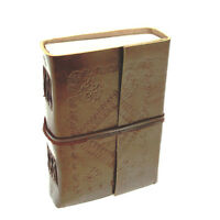 Fair Trade Handmade Eco Friendly Small Embossed Leather Journal 2nd Quality