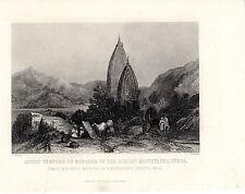 Antiguo Impresiones De La India-templos hindú de Mahadeo, montañas sivalic (c1870)