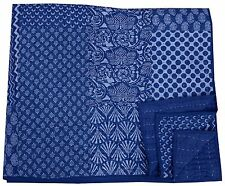 Indian Handmade Cotton Hand Block Print Blanket Bedding Kantha Rajai Bed Spread