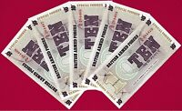 Great Britain: 5 UNC Military BAF Banknotes -10 Pence 1972 - 6th Series (P-M48)