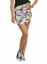 Marvel Comics Thor Iron Man Hulk Spider-Man Contour Skirt NEW! Juniors XL