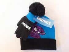 Epic Games Fortnite 2pc Youth Kids Beanie Winter Hat & Glove Set New
