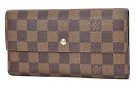 Authentic LOUIS VUITTON Porte Tresor International Wallet Damier Ebene #37508