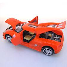 Orange 1:32 Scale Koenigsegg CCR Sports Car Diecast model Sound & Light 4-Doors