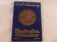 1971 Ringling Bros Barnum Bailey Circus 100th Anniversary Coin
