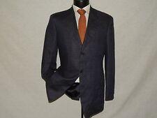 COACH men's 100% LINEN Blue plaid sports jacket coat 38 R