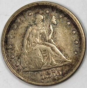 1875 S Twenty Cent Piece - VF+ !!