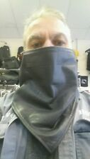 Black  Leather  Face mask and  Neck Warmer for motorcycles on  cold  days