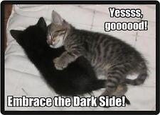 Funny Cat Humor Embrace The Dark Side Refrigerator Magnet