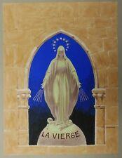 """Belle GOUACHE Originale """"La Vierge"""" FÉLIX LOCHARD (1874-1951)"""