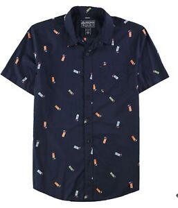 American Rag Mens Tiki Time Button Up Shirt