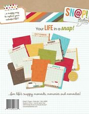 Snap Studio Calendar Journal Pages RETIRED 12 Double sided Tabbed Pages BS
