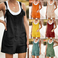 Womens Hot Pants Holiday Strappy Romper Ladies Beach Playsuit Dungarees Jumpsuit