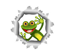 Autoaufkleber lustiger Frosch Einschussloch Aufkleber 15 cm cool Sticker