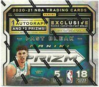 2020 Panini Prizm Fastbreak NBA One Hobby Box Random Live Team Break #1
