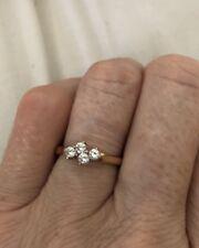 18ct Gold Diamond Ring With 4 Diamonds Set. Hallmarked