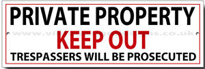 PRIVATE PROPERTY KEEP OUT METAL SIGN.INSRUCTIONAL SIGN,HOUSE SIGN,WARNING SIGN.