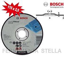 50 MOLA DISCO TAGLIO SBAVO 115 X 2,5 X 22 BOSCH FERRO METALLO SMERIGLIATRICE