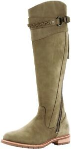 Ariat 185446 Womens Alora Round Toe Leather Riding Boots Olive Green Size 9.5 B
